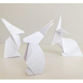 Tutoriel diy pâques : fabriquer des lapins en origami