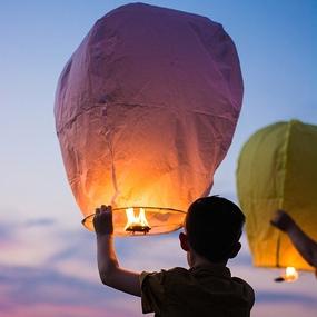 Lámparas flotantes o farolillos chinos