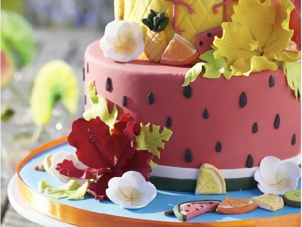 Mon cake design aux fruits