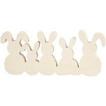 Famille de lapins de 11cm