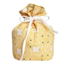 Trousse in cotone rivestito giallo 20xH28cm