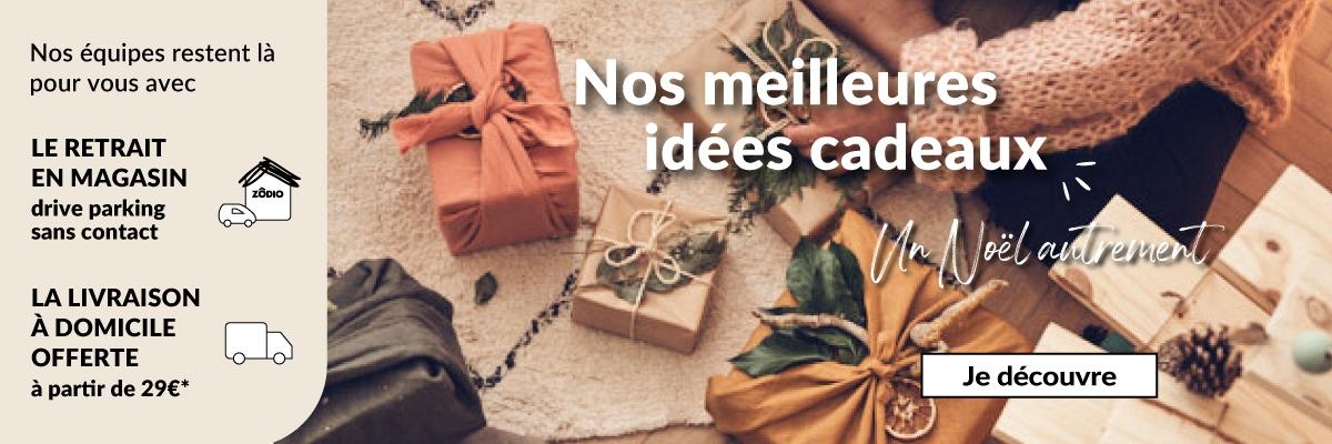 Découvrez vite nos idées cadeaux de Noël sur Zodio.fr  ✅ Livraison gratuite dès 29€ ✚ 10 000 références ✓ Paiements 100% sécurisés desktop